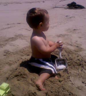 Devin at the Beach